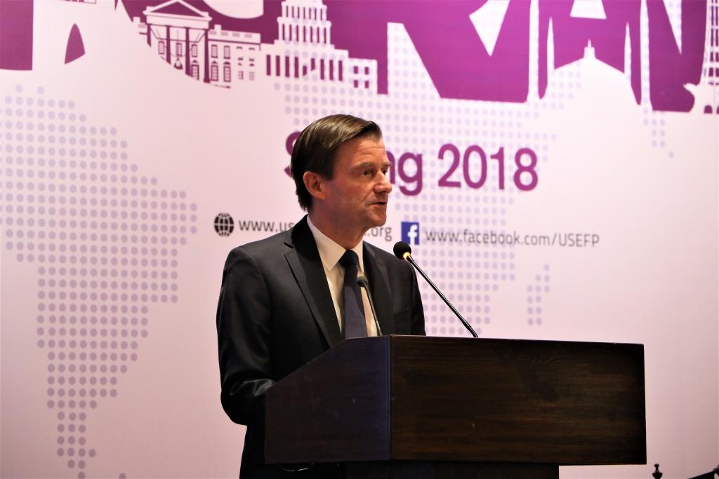 American Ambassador, David Hale congratulates the Global UGRAD Spring 2018 cohort.