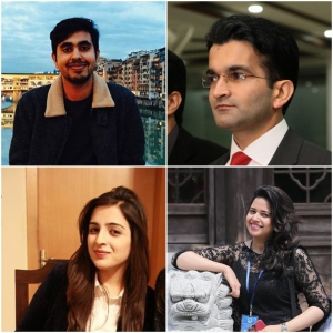 Clockwise: Hassan Nasir, Kamran Ali Changezi, Sarah Atiq, Maryam Zahra Khan
