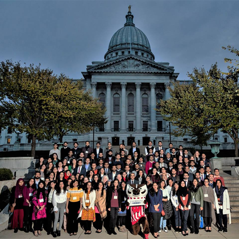 Pakistani Fulbright Master's and PhD grantees from across the U.S. gathered in Madison, WI to participate in the Fulbright Orientation Seminar