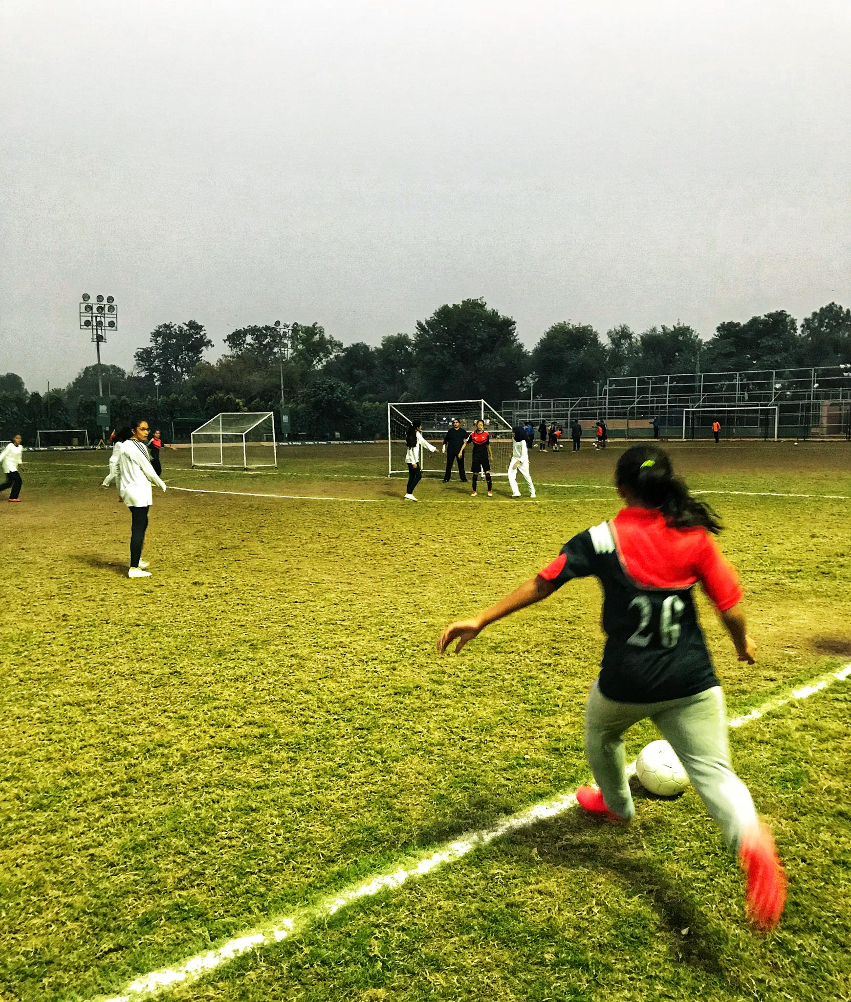 EducationUSA Lahore organized its first ever girls' soccer tournament