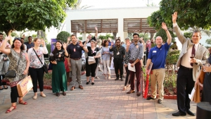 U.S. college reps at the reverse college fair which took place at the U.S. Consulate, Karachi