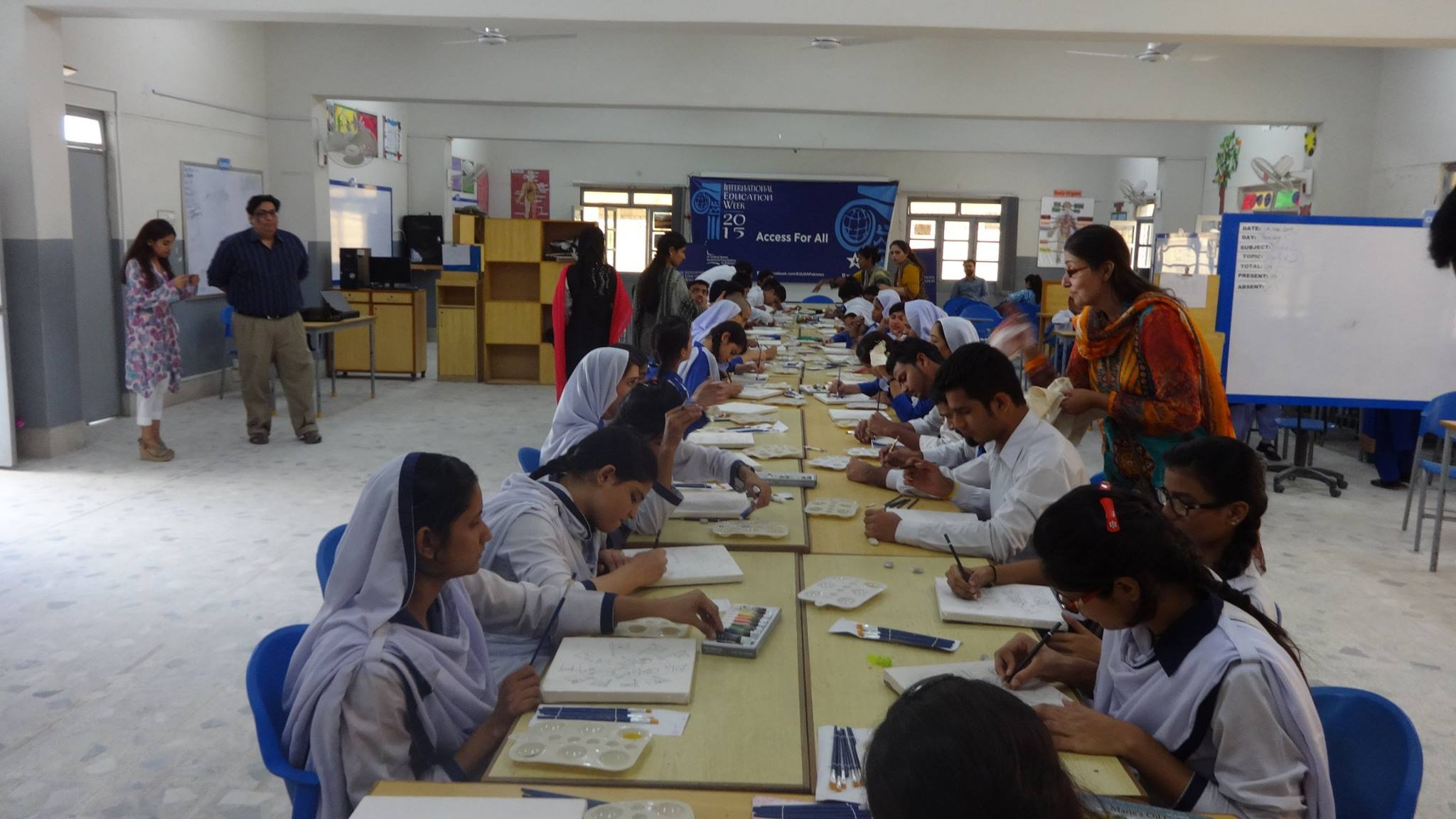 Karachi: Painting Competition at the Deaf Reach School