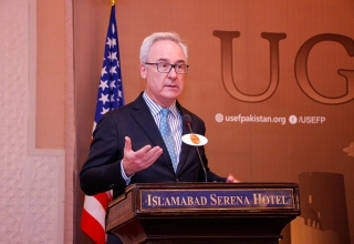 Christopher Fitzgerald, Acting Deputy Chief of Mission, spoke to the grantees at the PDO