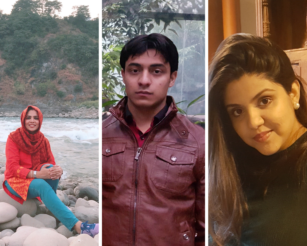 Sana (left) is now pursuing a degree in the US, while Sohaib (center) and Ayesha (right) have joined the USEFP team.
