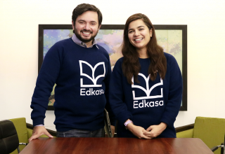 Fahad Tanveer (left) and Annum Sadiq (right) founded Edkasa in 2017.
